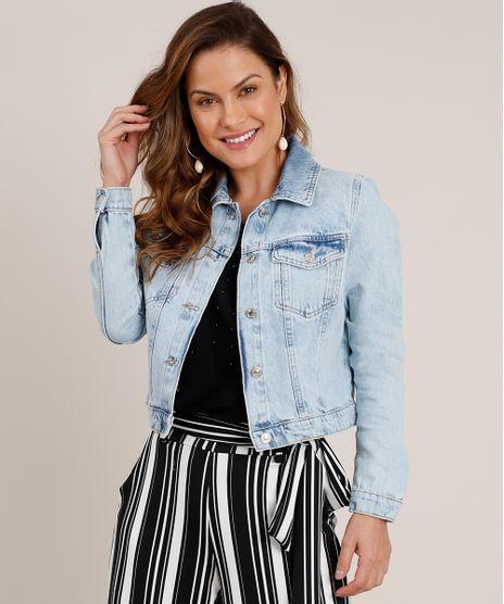 Jaqueta-Jeans-Feminina-Cropped-com-Bolsos-Azul-Claro-9834576-Azul_Claro_1