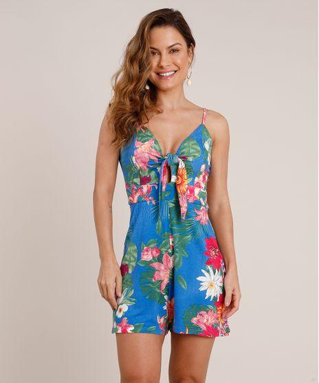 Macaquinho-Feminino-Estampado-Floral-com-No-Alca-Fina-Azul-Royal-9706150-Azul_Royal_1