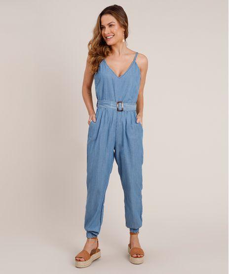 Macacao-Jeans-Feminino-Jogger-com-Cinto-Alca-Fina-Azul-Medio-9833552-Azul_Medio_1