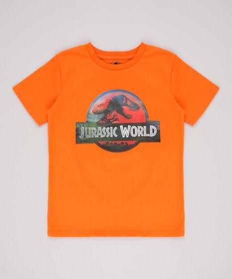 Camiseta-Infantil-Jurassic-World-Holografica-Manga-Curta-Laranja-9672796-Laranja_1