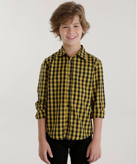 Camisa-Xadrez-Amarela-8439905-Amarelo 1 ... f63221c23df