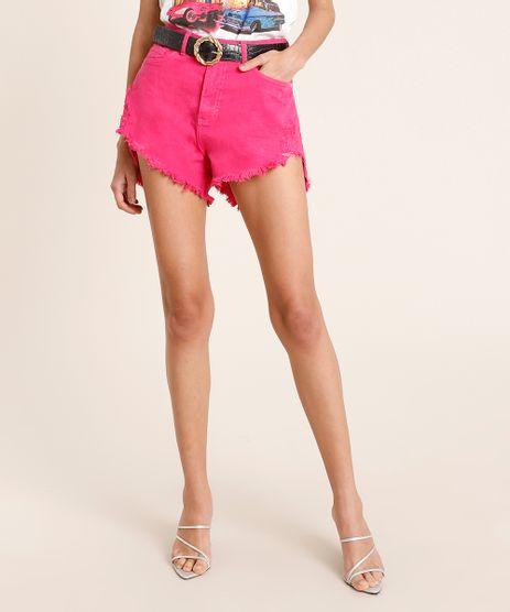 Short-de-Sarja-Feminino-Mindset-Cintura-Super-Alta-Destroyed-Pink-9886836-Pink_1