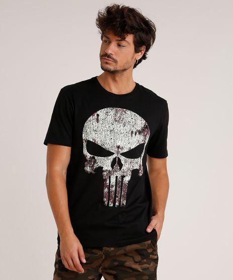 Camiseta-Masculina-O-Justiceiro-Manga-Curta-Gola-Careca-Preta-9727008-Preto_1
