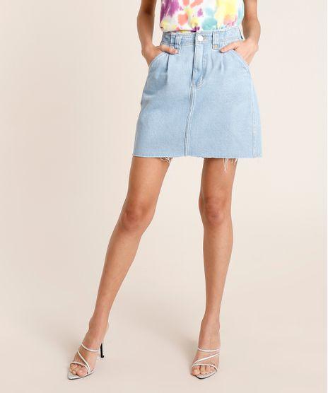 Saia-Jeans-Feminina-Mindset-Curta-com-Pregas-Azul-Claro-9886835-Azul_Claro_1