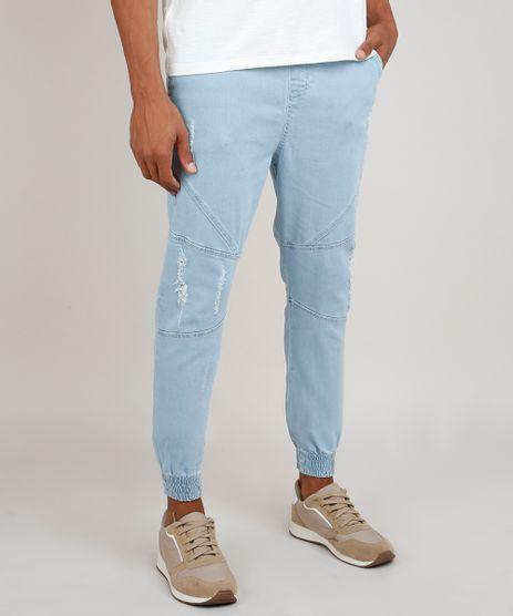 Calca-Jeans-Masculina-Jogger-Destroyed-Azul-Claro-9529458-Azul_Claro_1