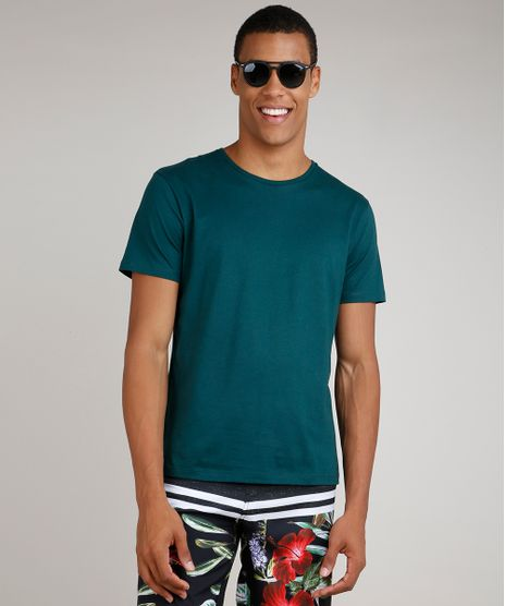 Camiseta-Masculina-Basica-Manga-Curta-Gola-Careca-Verde-9451467-Verde_1