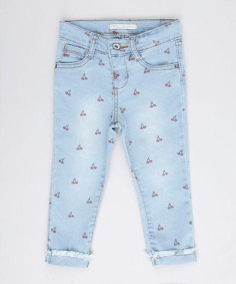 Calca-Jeans-Infantil-Estampada-de-Cerejas-Azul-Claro-9680469-Azul_Claro_1