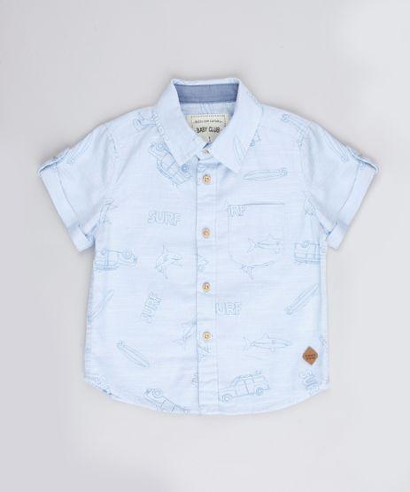 Camisa-Infantil-Estampada-de-Tubaroes-Surf-com-Bolso-Manga-Curta-Azul-Claro-9670881-Azul_Claro_1