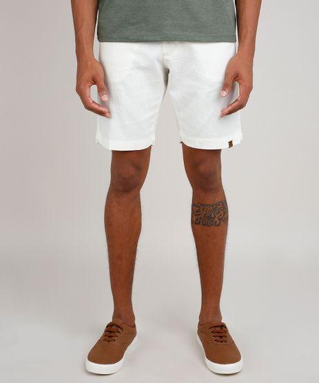 Bermuda-Masculina-Reta-com-Linho-e-Cordao-Bege-Claro-9776012-Bege_Claro_1