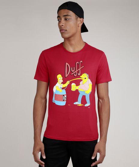 Camiseta-Masculina-Duff-Os-Simpsons-Manga-Curta-Gola-Careca--Vermelho-9727003-Vermelho_1