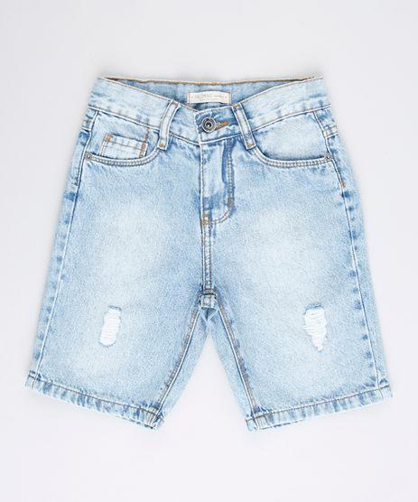 Bermuda-Jeans-Infantil-Reta-com-Rasgos-Azul-Claro-9761841-Azul_Claro_1
