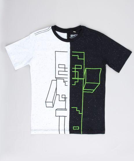 Camiseta-Infantil-Esqueleto-e-Zumbi-Minecraft-com-Recorte-Manga-Curta-Preta-9732792-Preto_1