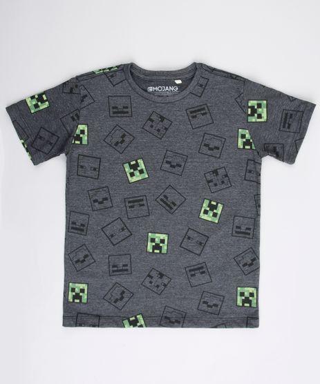 Camiseta-Infantil-Minecraft-Estampada-Manga-Curta-Cinza-Mescla-Escuro-9732789-Cinza_Mescla_Escuro_1