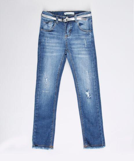 Calca-Jeans-Infantil-com-Strass-e-Cinto-Metalizado-Azul-Escuro-9748592-Azul_Escuro_1