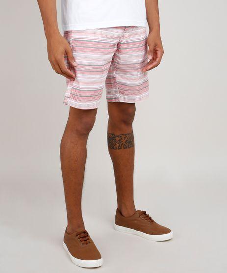 Bermuda-de-Sarja-Masculina-Listrada-com-Bolso-e-Cordao-Rosa-9778486-Rosa_1