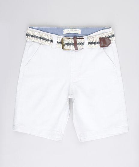 Bermuda-Infantil-Reta-Alfaiatada-com-Cinto-Kaki-Claro-9662831-Kaki_Claro_1