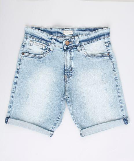 Bermuda-Jeans-Infantil-Reta-com-Rasgos-Azul-Claro-9761845-Azul_Claro_1