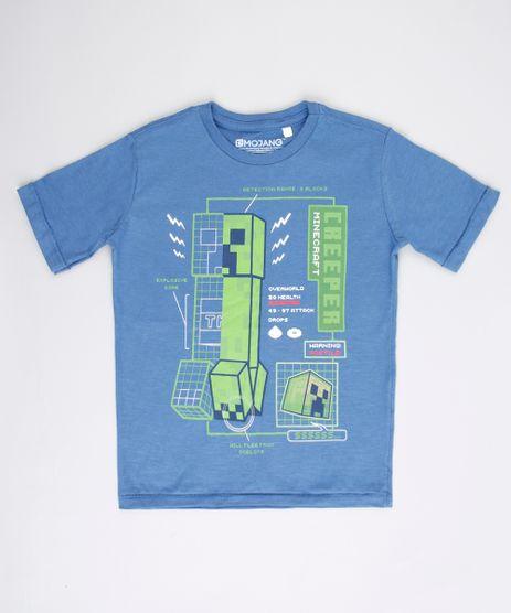 Camiseta-Infantil-Creeper-Minecraft-Manga-Curta-Azul-9732790-Azul_1