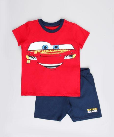 Pijama-Infantil-Relampago-McQueen-Carros-Manga-Curta-Vermelho-9762472-Vermelho_1