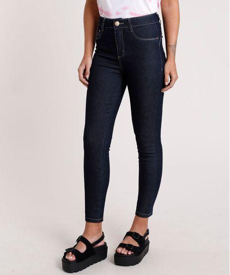Calca-Jeans-Feminina-Sawary-Cigarrete-Cintura-Alta-Azul-Escuro-9820359-Azul_Escuro_1