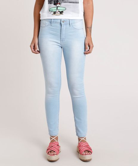 Calca-Jeans-Feminina-Cigarrete-Cintura-Media-Azul-Claro-9841579-Azul_Claro_1