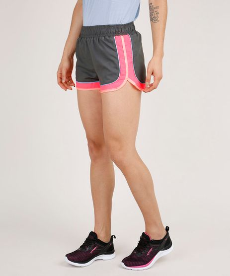 Short-Feminino-Esportivo-Ace-Running-Color-Block-Neon-Chumbo-9706502-Chumbo_1