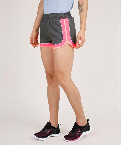 Short-Feminino-Esportivo-Ace-Running-Color-Block-Neon-Chumbo-9706502-Chumbo_1