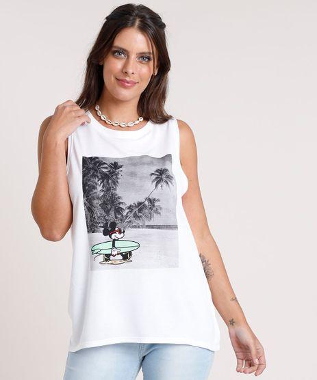 Regata-Feminina-Cavada-Mickey-na-Praia-Decote-Redondo-Branca-9801382-Branco_1