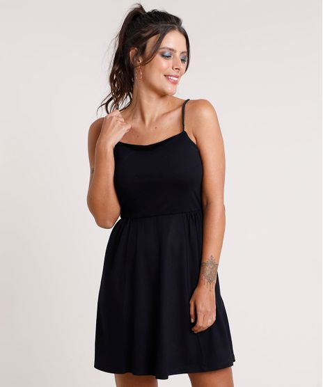 Vestido-Feminino-Curto-Evase-com-Alca-de-Corda-Preto-9799756-Preto_1