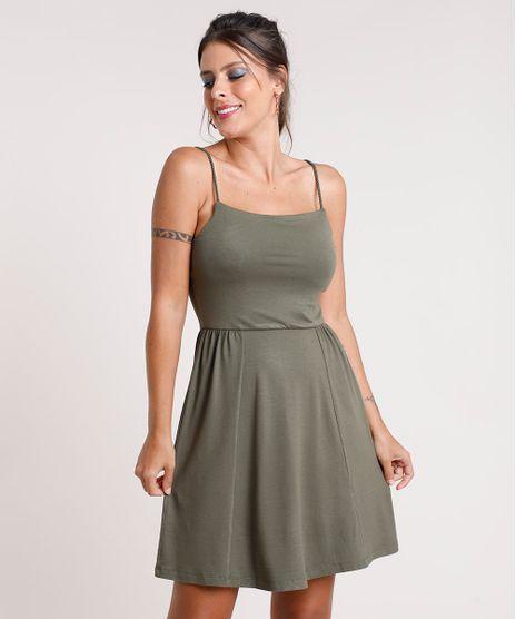 Vestido-Feminino-Curto-Evase-com-Alca-de-Corda-Verde-Militar-9799756-Verde_Militar_1