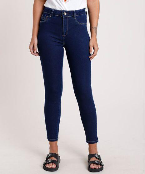 Calca-Jeans-Feminina-Sawary-Cigarrete-Cintura-Alta-Azul-Escuro-9820357-Azul_Escuro_1