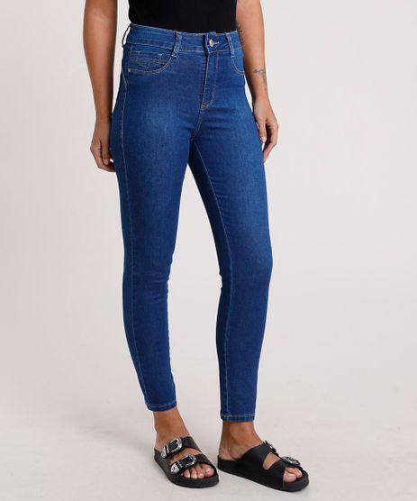 Calca-Jeans-Feminina-Sawary-Cigarrete-Cintura-Alta-Azul-Medio-9820356-Azul_Medio_1