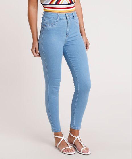Calca-Jeans-Feminina-Sawary-Cigarrete-Cintura-Alta-Azul-Claro-9820358-Azul_Claro_1