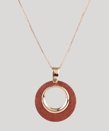 Colar-Feminino-Longo-com-Pingente-em-Madeira-Dourado-9761534-Dourado_1