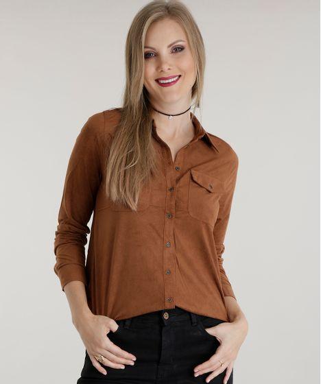 c29529341 Camisa-em-Suede-Caramelo-8494142-Caramelo_1 ...