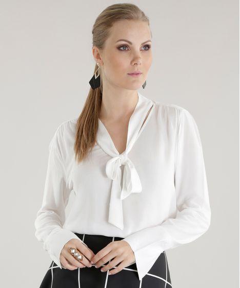 58a853ffc4 Blusa-com-Laco-Off-White-8542048-Off White 1 ...