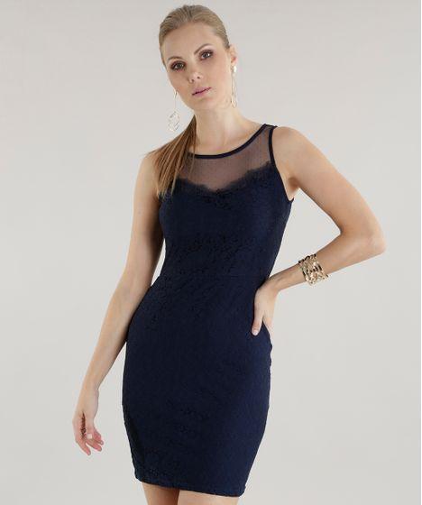 b5e2b91401 Vestido-em-Renda--Azul-Marinho-8584023-Azul Marinho 1 ...