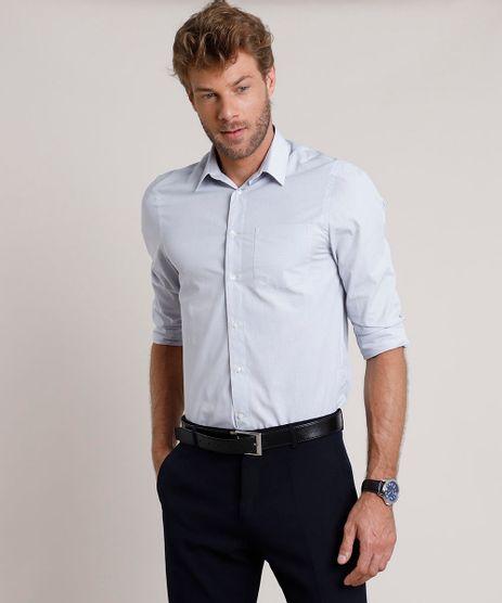 Camisa-Social-Masculina-Comfort-Maquinetada-com-Bolso-Manga-Longa-Cinza-Claro-9639463-Cinza_Claro_1