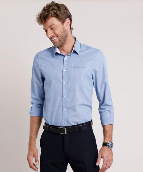 Camisa-Social-Masculina-Comfort-com-Bolso-Manga-Longa-Azul-9508843-Azul_1