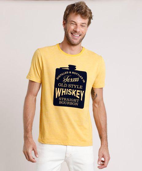 Camiseta-Masculina--Whiskey--Manga-Curta-Gola-Careca-Mostarda-9832861-Mostarda_1