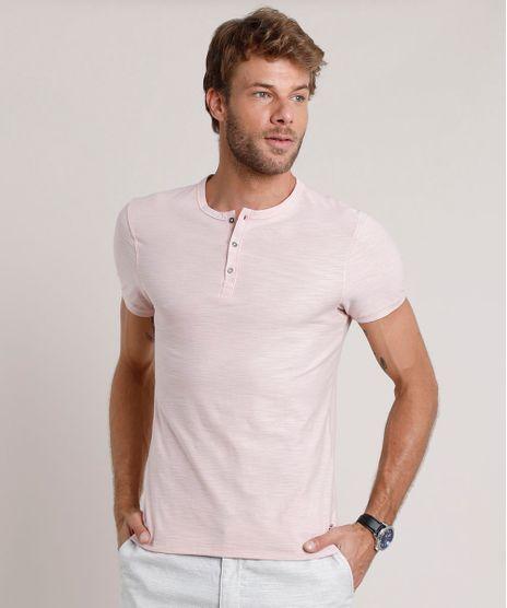 Camiseta-Masculina-Slim-Fit-Manga-Curta-Gola-Portuguesa-Rosa-Claro-9806201-Rosa_Claro_1