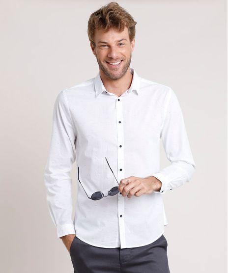 Camisa-Social-Masculina-Slim-Mescla-Manga-Longa-Branca-9657388-Branco_1