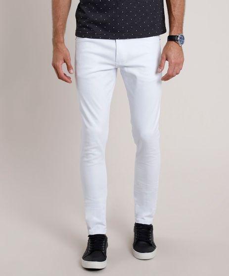 Calca-de-Sarja-Masculina-Slim-Branca-9778351-Branco_1