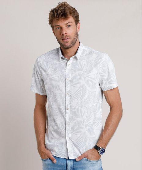 Camisa-Masculina-Tradicional-Estampada-de-Folhagem-Manga-Curta-Branca-9645935-Branco_1