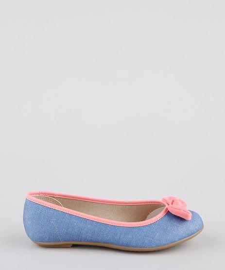 Sapatilha-Jeans-Infantil-Molekinha-Bico-Redondo-com-Laco-Azul-Medio-9902827-Azul_Medio_1