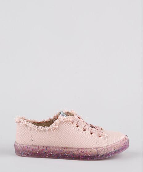 Tenis-Infantil-Molekinha-Desfiado-com-Glitter-e-Micanga-Rose-9902826-Rose_1