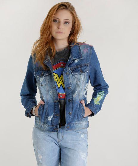 Jaqueta-Mulher-Maravilha-Jeans-Medio-8577273-Jeans_Medio_1