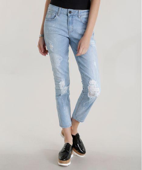 Algodao Mais Sustentavel. Calca-Jeans-Cigarrete-Mulher-Maravilha-Azul-Claro-8584611-  ... 175f6fd7f552f