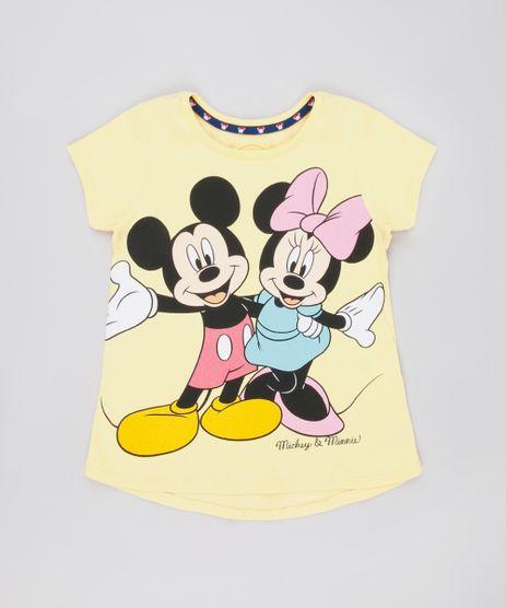 Blusa-Infantil-Mickey-e-Minnie-Manga-Curta-Amarela-9742020-Amarelo_1