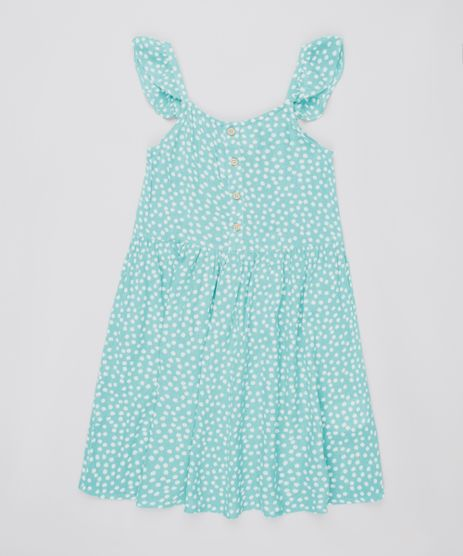 Vestido-Infantil-Estampado-Floral-com-Botoes-e-Babado-Alca-Fina-Verde-Claro-9695672-Verde_Claro_1